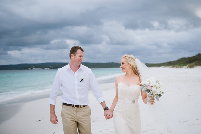 Belinda and Clay's Hyam's Beach Wedding