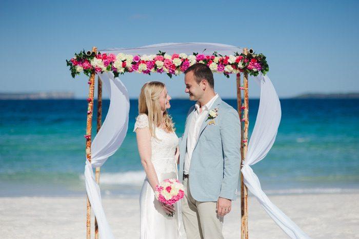 Laura and Marko's Hyams Beach Wedding