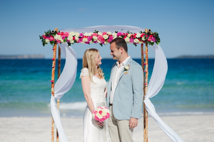 Laura and Marko's Hyams Beach Wedding