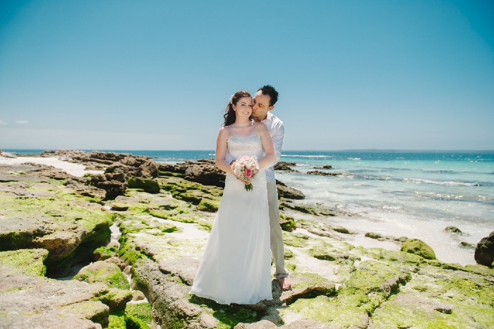 Renae and Gavin's Beach Wedding